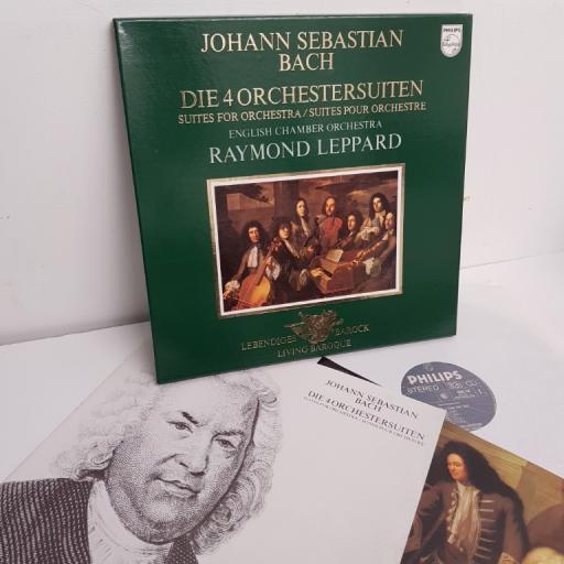 "Johann Sebastian Bach / English Chamber Orchestra / Raymond Leppard – Die 4 Orchestersuiten, 6768 028, 2x12"" LP, box set"