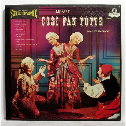 MOZART, COSI FAN TUTTE, 3x12'' LP, OSA-1312. UK pressing, London Records