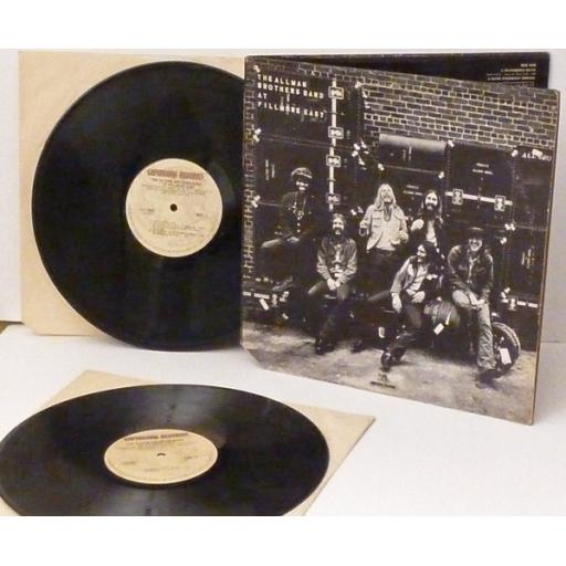 THE ALLMAN BROTHERS BAND, at fillmore east. DOUBLE ALBUM. Very rare.US. 1971....