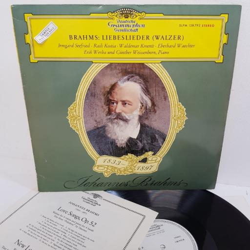 "Brahms - Irmgard Seefried, Raili Kostia, Waldemar Kmentt, Eberhard Waechter, Erik Werba , Günther Weissenborn - Love Songs (Waltz), 138 792, 12"" LP, sample copy"