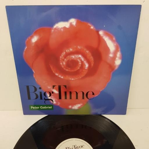 "PETER GABRIEL, big time (extended version), B side (seven inch version) + curtains, PGS3 12, 12"" single"