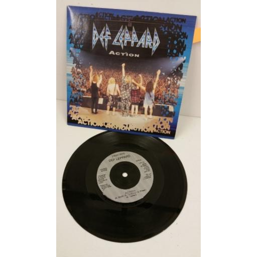 DEF LEPPARD action, 7 inch single, LEP 13
