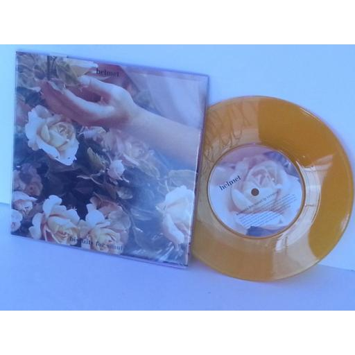 HELMET biscuits for smut, 7 inch single, orange vinyl