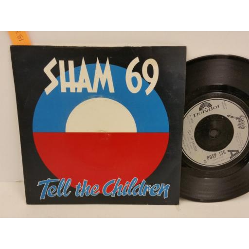 SHAM 69 tell the children, PICTURE SLEEVE, 7 inch single, POSP 136
