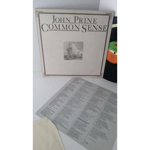 JOHN PRINE common sense, K50137, lyric insert