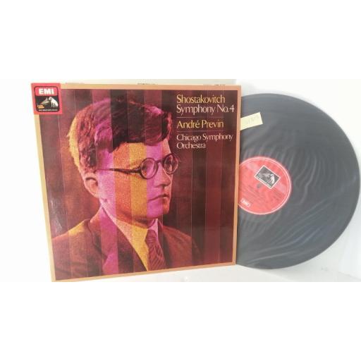 SHOSTAKOVITCH, ANDRE PREVIN, CHICAGO SYMPHONY ORCHESTRA symphony no. 4, ASD 3440