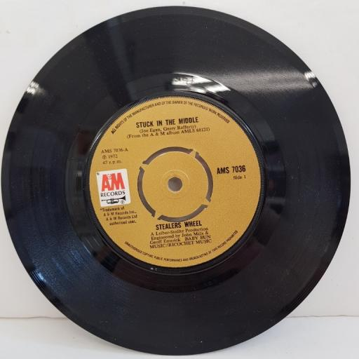 "STEALERS WHEEL, stuck in the middle, B side jose, AMS 7036, 7"" single"