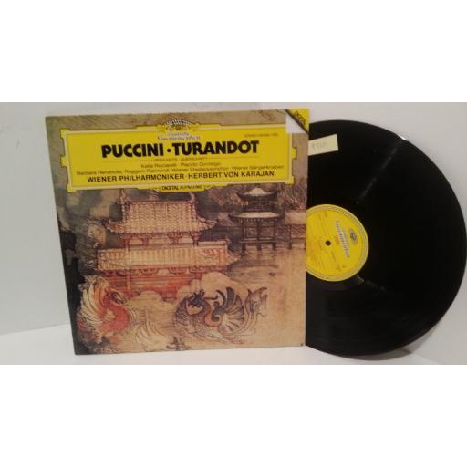 PUCCINI, KATIA RICCIARELLI, PLACIDO DOMINGO, BARBARA HENDRICKS, RUGGERO RAIMONDI, WIENER STAATSOPERNCHOR, WIENER PHILHARMONIKER, HERBERT VON KARAJAN turandot highlights, 410 645-1