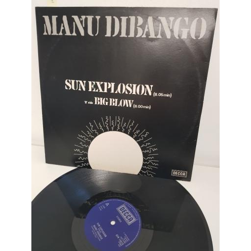 "MANU DIBANGO, sun explosion, B side big blow, GFR 13810, 12"" single"