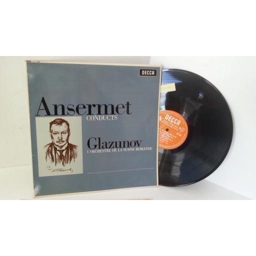 GLAZUNOV, ANSERMET, L'ORCHESTRE DE LA SUISSE ROMANDE the seasons / concert waltzes nos. 1 & 2, LXT 6269