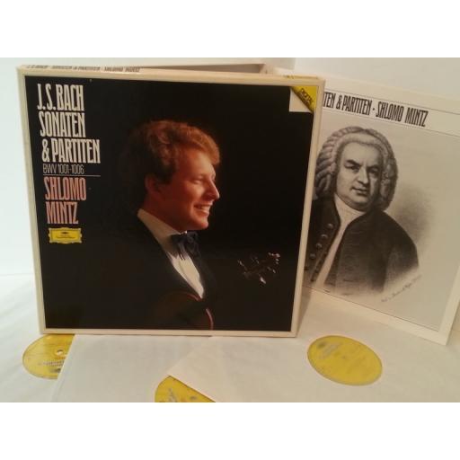 J. S BACH, SHLOMO MINTZ sonaten and partiten BWV 1001-1006, 3 lp box set, booklet, 413 810