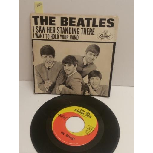 "THE BEATLES I saw her standing there & I want to hold your hand 7"" PICTURE SLEEVE SINGLE 5112"