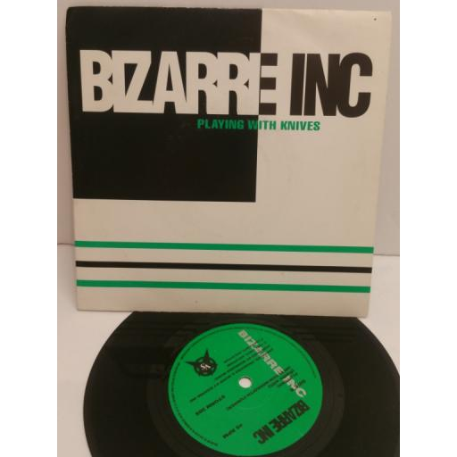 BIZARRE INC playing with knives. 7 inch picture sleeve. STORM 38S