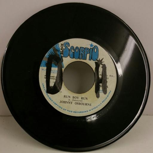 JOHNNY OSBOURNE run boy run, 7 inch single
