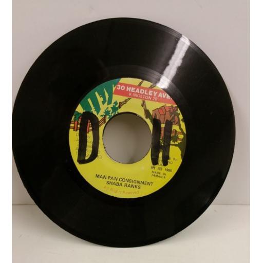 SHABA RANKS man pan consignment, 7 inch single