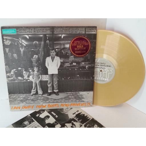 IAN DURY new boots and panties unlimited gold vinyl