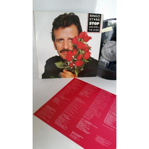 RINGO STARR stop and smell the roses, lyric insert, RCA LP 6022