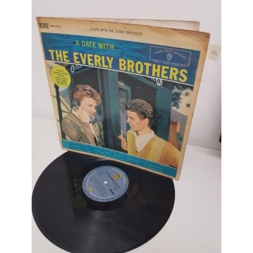 "EVERLY BROTHERS, a date with the everly brothers, WM 4028, 12"" LP"