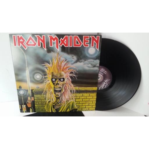 IRON MAIDEN iron maiden, EMC 3330 WHITE VINYL