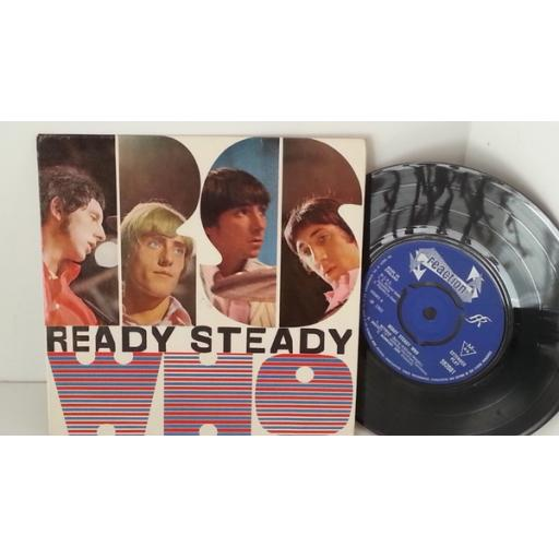 OUT OF STOCK THE WHO ready steady who, picture sleeve 7 inch single, 592001