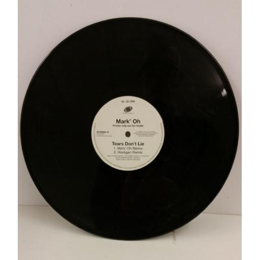 MARK' OH tears don't lie, 12 inch 4 track single, SYSXDJ 9