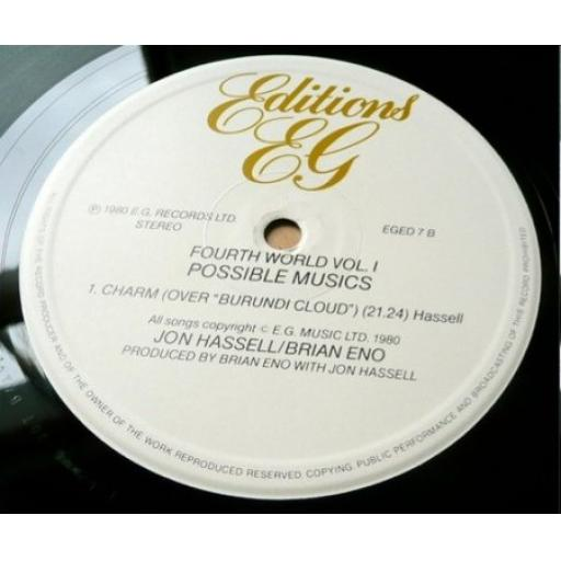 SOLD JON HASSELL/BRIAN ENO, Fourth World Vol. 1: Possible Musics