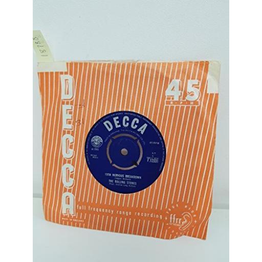 "THE ROLLING STONES, as tears go by, B side 19th nervous breakdown, F12331, 7"" single"