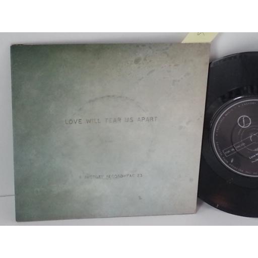 SOLD: JOY DIVISION love will tear us apart, 7 inch single, FAC 23