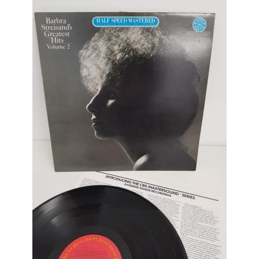 """BARBRA STREISAND, greatest hits, volume 2, CBSH86079, 12"""" LP"""