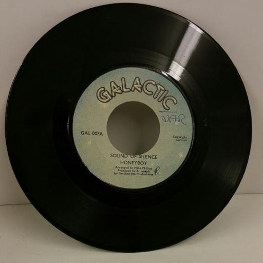 HONEYBOY sound of silence, 7 inch single, GAL 007