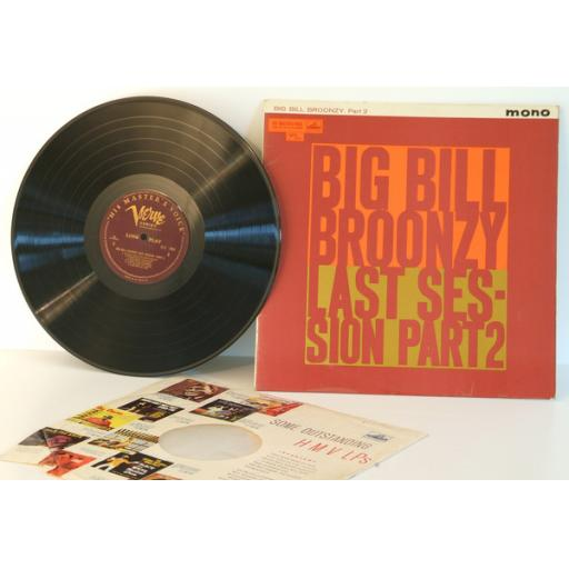 BIG BILL BROONZY, last session, part 2. GREAT COPY. VERY RARE. Mono. First UK...