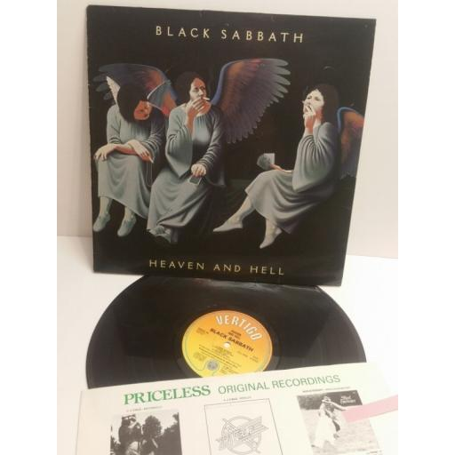 BLACK SABBATH heaven and hell PRICE10