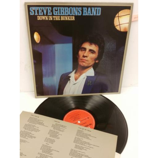STEVE GIBBONS BAND down in the bunker, lyric insert, POLS 1001