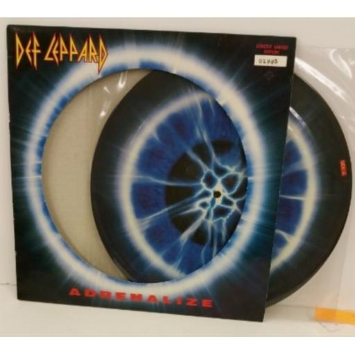 SOLD: DEF LEPPARD adrenalize, limited edition picture disc, number: 01905, 514256-1