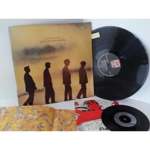 "ECHO AND THE BUNNYMEN songs to learn and sing, includes 7 inch single ""the pictures on my wall"", KODE 13"