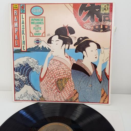 "Jean-Pierre Rampal, Lily Laskine ‎– Sakura (Japanese Melodies For Flute And Harp), 12""LP, M 34568"