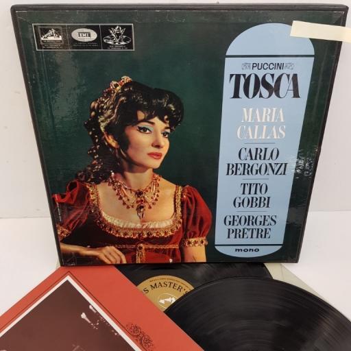 """Giacomo Puccini, Maria Callas, Carlo Bergonzi, Tito Gobbi, Orchestre De La Société Des Concerts Du Conservatoire, Georges Prêtre – Tosca, AN 149-150, 2x12"""" LP, mono, box set"""
