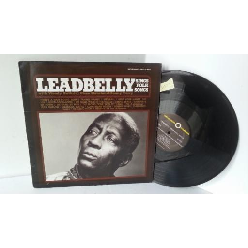 LEADBELLY WITH WOODY GUTHRIE, CISCO HOUSTON & SONNY TERRY sings folk songs, SF 40010