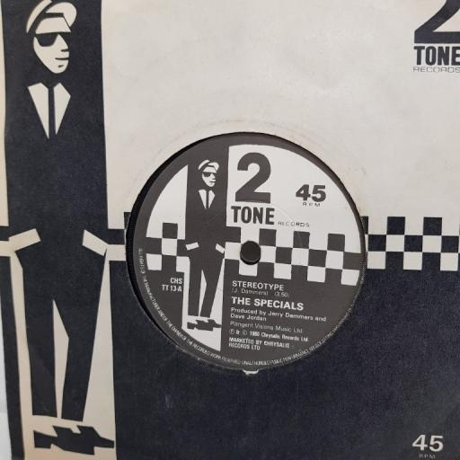 "THE SPECIALS, stereotype, B side international jet set, , CHS TT 13, 7"" single"