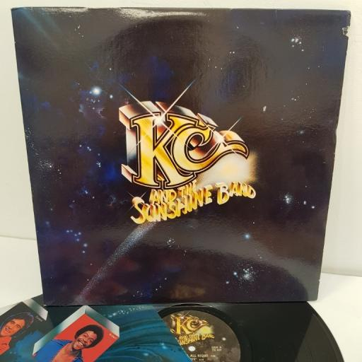 """KC AND THE SUNSHINE BAND, side A do you feel all right, sho-nuff', come to my island, so glad, side B it's the same old song, who do ya love, how about a little love, i will love ou tomorrow, 12"""" LP"""