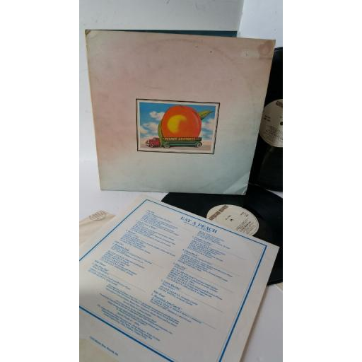 SOLD : THE ALLMAN BROTHERS eat a peach, gatefold, 2 x lp, track list/picture insert, K67501