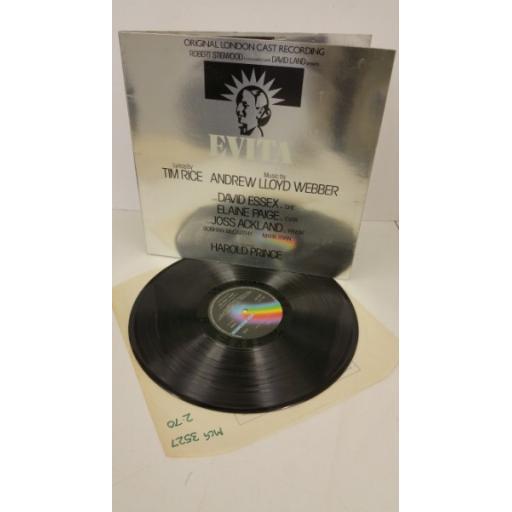 ANDREW LLOYD WEBBER AND TIM RICE evita: original london cast recording, gatefold, MCG 3527