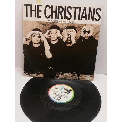"""THE CHRISTIANS forgotten town(12"""" SINGLE),12ISX 291"""