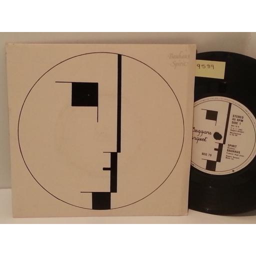 """BAUHAUS spirit, 7"""" single, beg 74"""