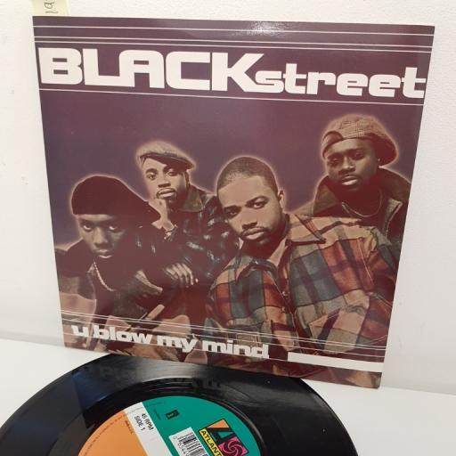 "BLACKSTREET, u blow my mind radio mix , B side u blow my mind craig mack radio mix , A 8222, 7"" single"