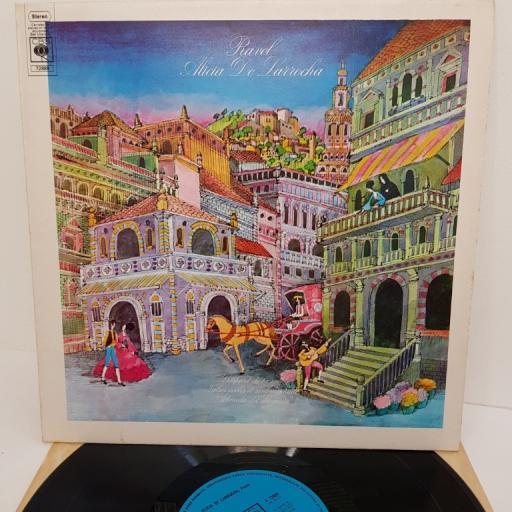 """Ravel - Alicia De Larrocha – Gaspard De La Nuit / Valses Nobles Et Sentimentales / Alborada Del Gracioso, S 72889, 12"""" LP"""