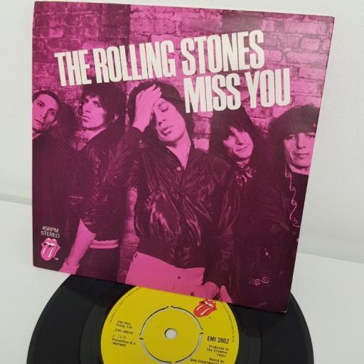 "THE ROLLING STONES, miss you, B side far away eyes, EMI 2802, 7"" single"