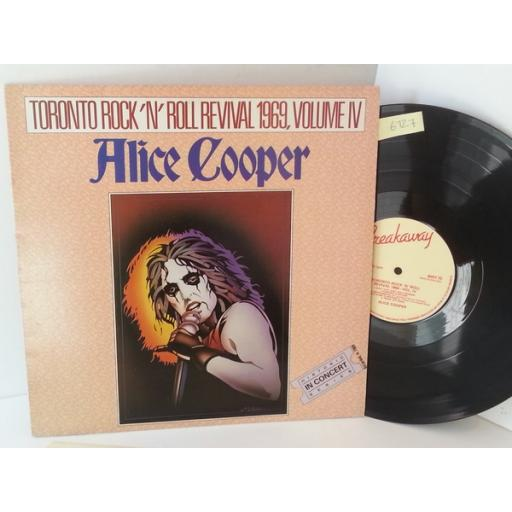 ALICE COOPER toronto rock n roll revival 1969, volume iv, BWY 70