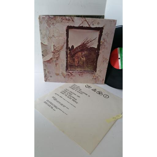 LED ZEPPELIN 4, gatefold, SD 7208