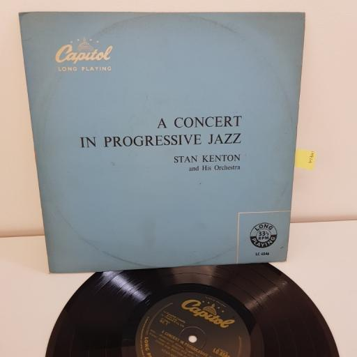 """KENTON, STAN and his orchestra, a concert in progressive jazz, 10"""" LP, LC 6546"""